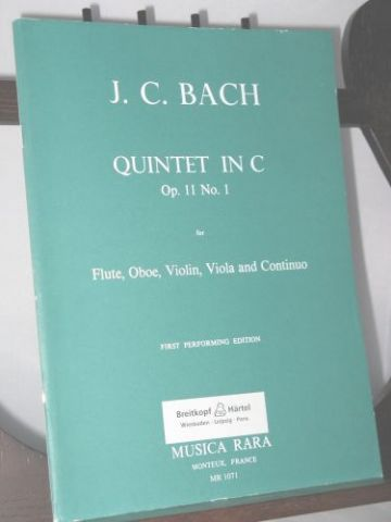 Bach J C - Quintet in C Op 11 No 1